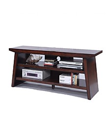 Wooden TV Stand with Bottom Shelf