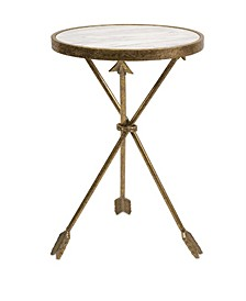 Captivating Arrow Marble Top Table