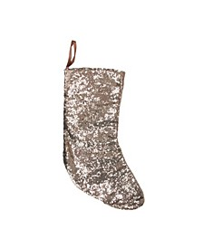 """17.5"""" Bronze Paillette Sequins Hanging Christmas Stocking"""