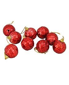 9 Count Hot MirroGlass Disco Ball Christmas ornaments