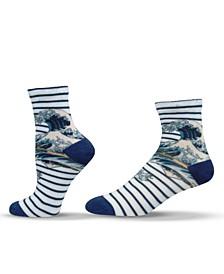 Unisex Great Wave Hokusai Japanese Quarter Socks