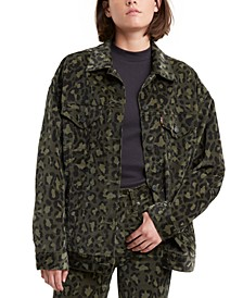 Women's Limited Camouflage Oversized Trucker Jacket