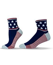 Unisex Americana Patriotic Quarter Socks