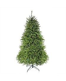 7.5' Pre-Lit Northern Pine Full Artificial Christmas Tree - Multi-Color Lights