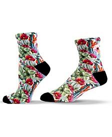 Unisex Cactus Patterned Quarter Socks