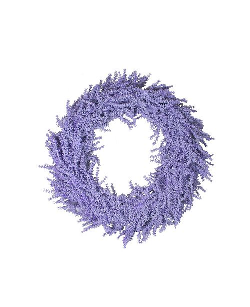 """Northlight 26"""" Spring Vibrant Purple Artificial Wisteria Inspired Flower Wreath"""