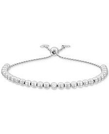 Polished Bead Bolo Bracelet in Sterling Silver, Created for Macy's