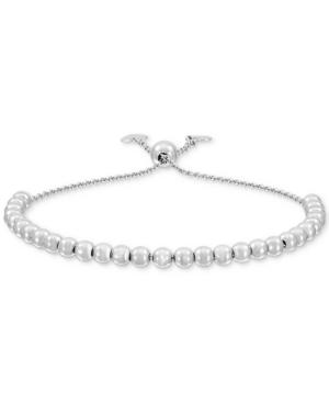 Polished Bead Bolo Bracelet in Sterling Silver
