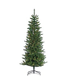 7-Foot High Pre-Lit Narrow Augusta Pine with Clear White Lights