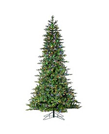 9-Foot High Pre-Lit Natural Cut Aspen Pine with Instant Glow Power Pole Feature