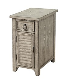 One Door/One Drawer Accent Table, Quick Ship