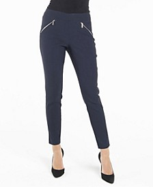 Nanette Lepore Pull On Leggings with Front Zippers