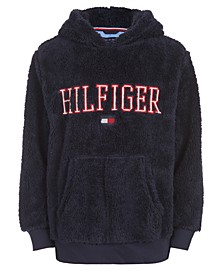 Big Boys Eddie Navy Blue Fleece Logo Hoodie