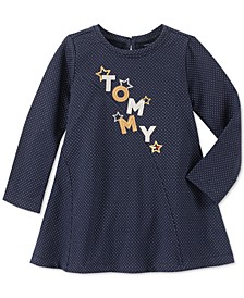 Toddler Girls Metallic Logo Dress
