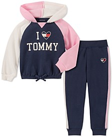 Toddler Girls 2-Pc. Colorblocked Hoodie & Fleece Jogger Pants Set