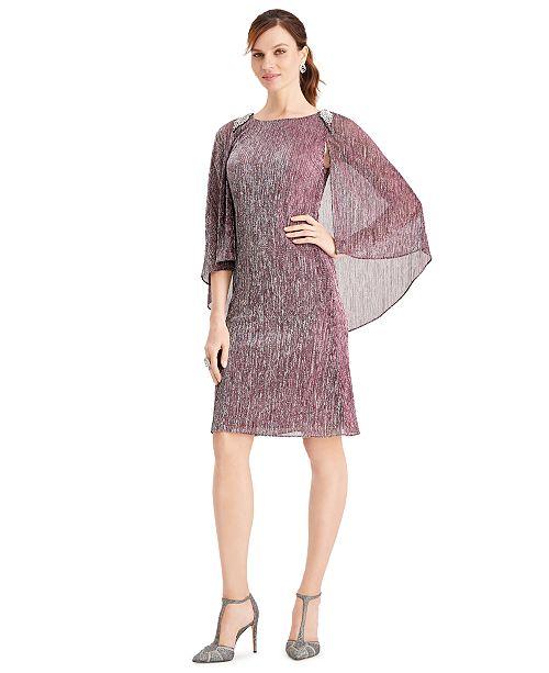 SL Fashions Flutter-Sleeve Dress