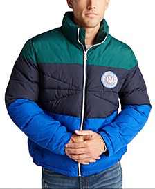 Men's Blue Sail Tempasphere Insulated Colorblock Jacket, Created For Macy's