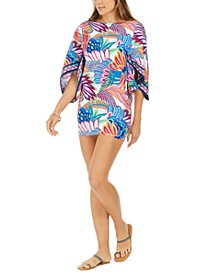 Paradise Plume Printed Tunic Cover-Up