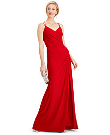 Adrianna Papell Ruched Gown
