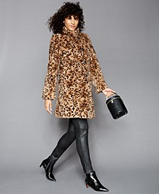 Printed Mink-Fur Reversible Coat