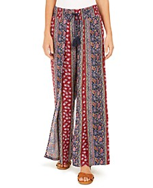 Paisley-Print Drawstring Wide-Leg Pants, Created for Macy's