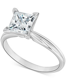 Diamond Princess Solitaire Engagement Ring (1-1/2 ct. t.w.) in 14k White Gold