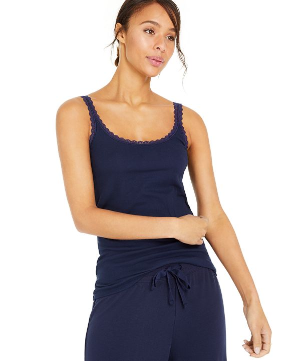 Style & Co Lace-Trimmed Camisole Top, Created for Macy's