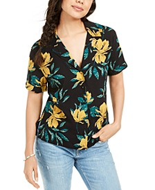 Juniors' Floral-Print Shirt