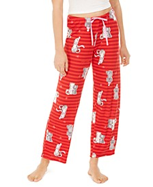 Women's Striped Snuggle Buddies Pajama Pants, Online Only