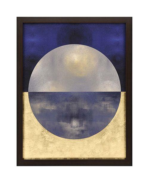 "Paragon Blue Sphere I Framed Wall Art, 53"" x 41"""