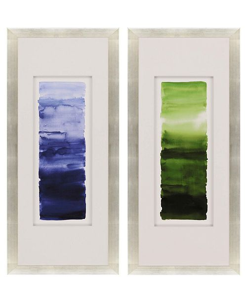 "Paragon Watercolor Study II Framed Wall Art Set of 2, 42"" x 18"""