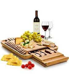 Cheese Board Cutlery Set with Slide-Out Drawer