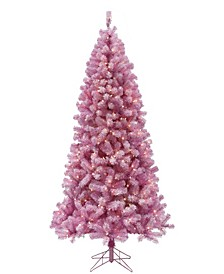 6.5' Pre-lit Light Pink Christmas Tree with Clear LED Lights