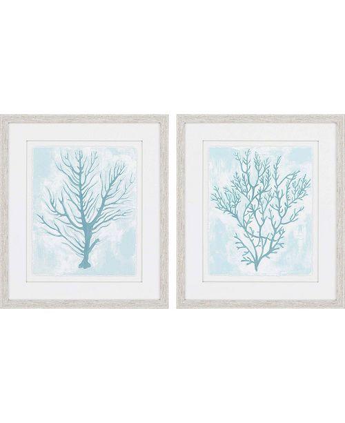 "Paragon Living Teal Framed Wall Art Set of 2, 30"" x 26"""