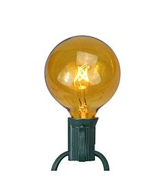 Pack of 25 Amber G50 Incandescent Christmas Replacement Bulbs