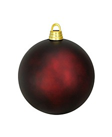"Burgundy Red Shatterproof Matte Christmas Ball Ornament 12"" 300mm"