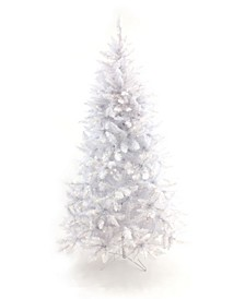 5' Pre-Lit White Christmas Tree with Warm White LED Lights