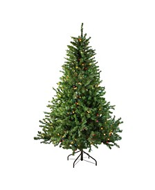 6' Pre-Lit Canadian Pine Artificial Christmas Tree - Multi Lights
