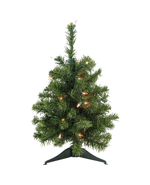 """Northlight 18"""" Pre-Lit Canadian Pine Artificial Christmas Tree - Clear Lights"""