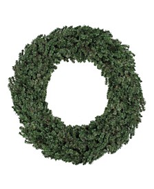 8' Commercial Size Canadian Pine Artificial Christmas Wreath - Unlit