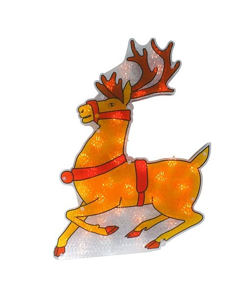"""Northlight 18"""" Lighted Shimmering Reindeer Christmas Window Silhouette"""