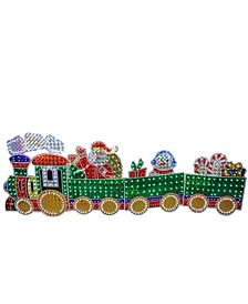 4-Piece Holographic LED Lighted Motion Train Set Outdoor Christmas Decoration
