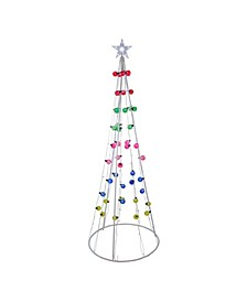 6' Multi-Colored Lighted Show Cone Christmas Tree Outdoor Decoration