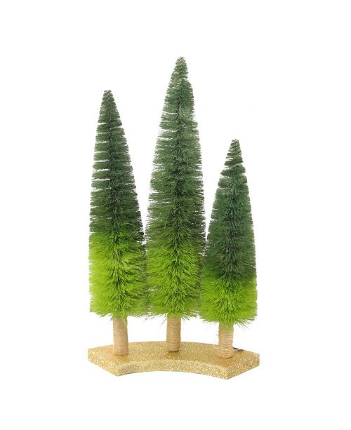 Northlight Ombre Green Sisal Christmas Trees Table Top Decoration