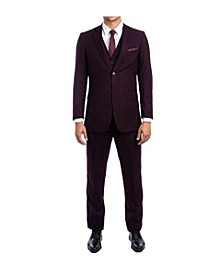 Men's Hybrid Fit Pin Stripe Notch Lapel Suit