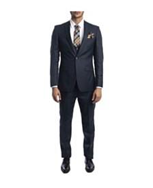 Tazio Men's Stretch Ultra Slim Fit Windowpane Suit