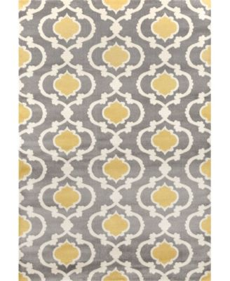 Alba Alb310 Gray/Yellow 10' x 14' Area Rug