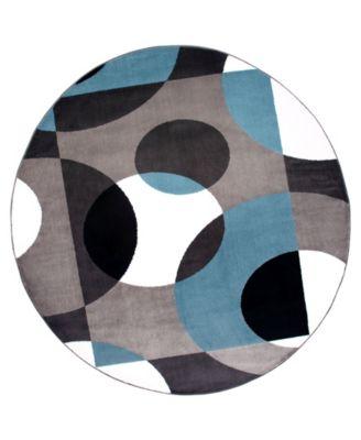 """Montane Mon100 Blue 6'6"""" Round Area Rug"""