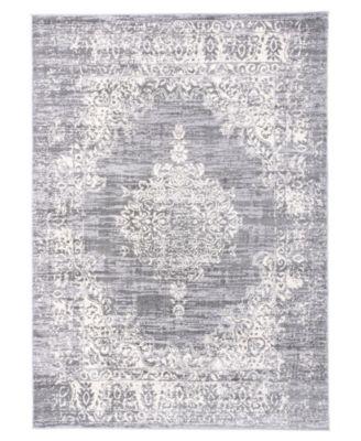 Lyon Lyn834 Gray 5' x 7' Area Rug