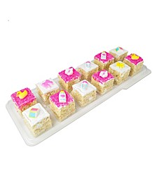 Selection of our Hand Made Rice Krispie Treats Designed To Celebrate Your Baby Girl